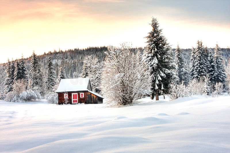 Winterlandschaft stockfotografie