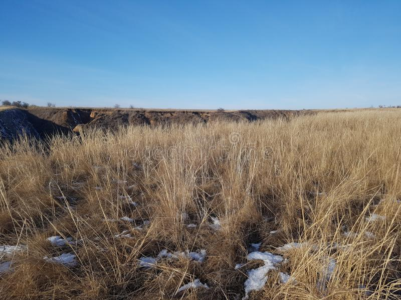 Winterlandschaft nahe dem Kuyalnik stockfoto