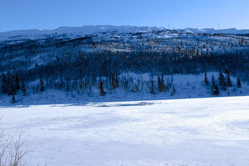 Winterlandschaft in Norwegen stockfotografie
