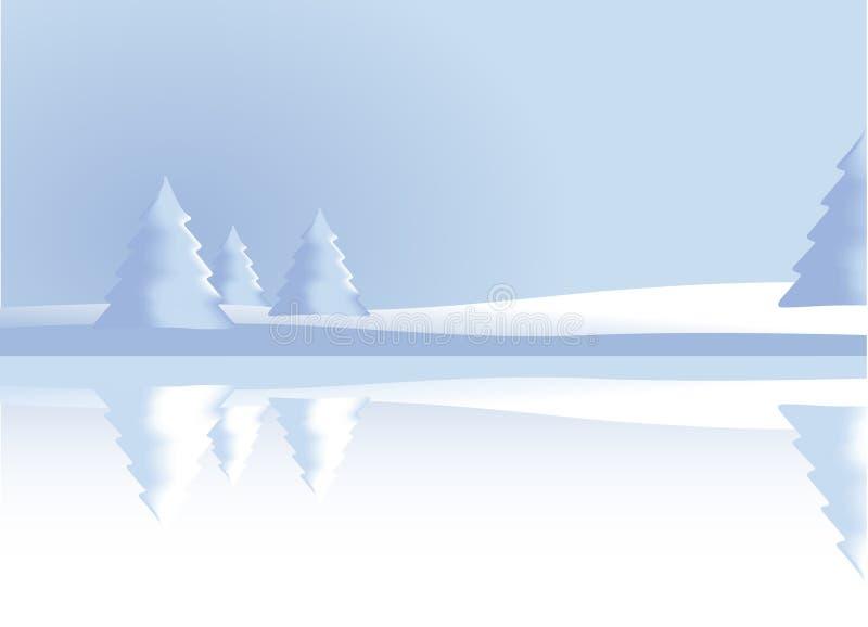Winterlandschaft - Vektor lizenzfreie abbildung