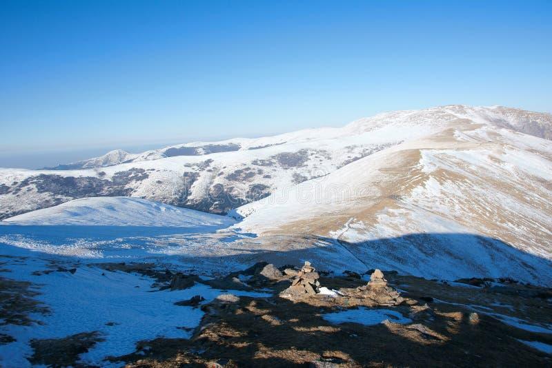 Winterlandschaft von Wutaishan stockbilder
