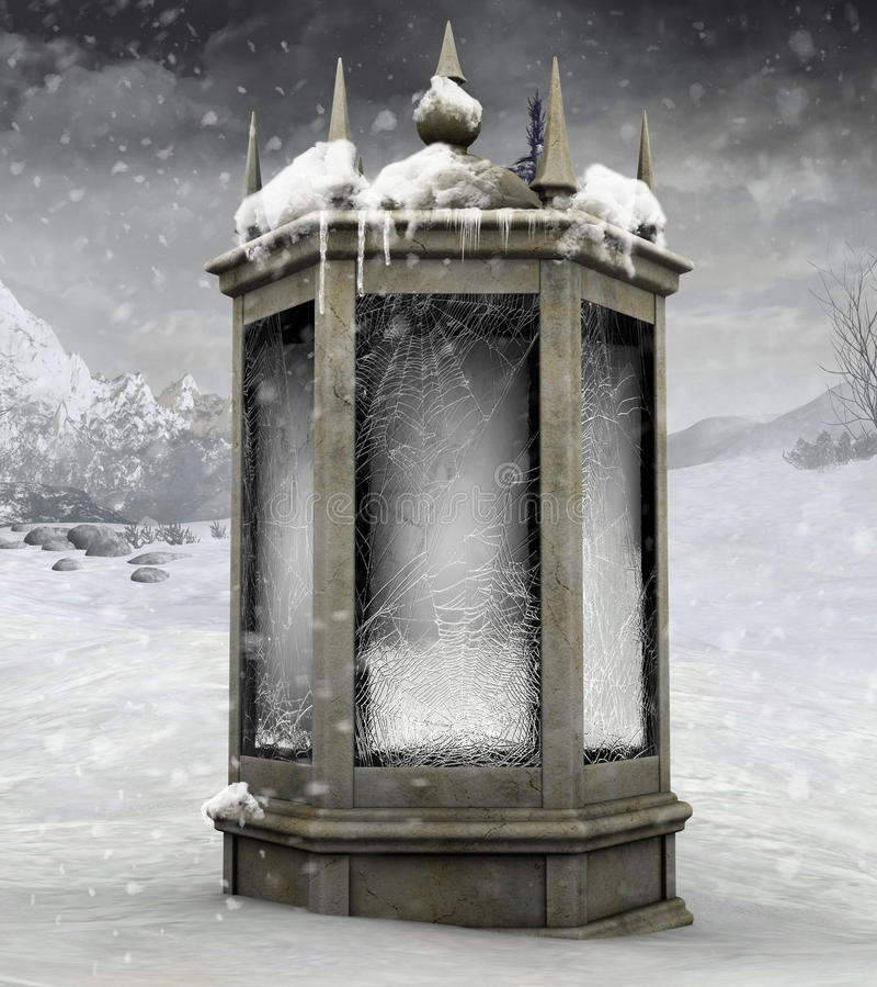 Winterlaterne stock abbildung