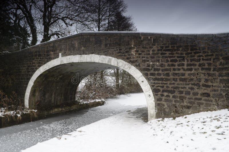 Winterliche Brücke lizenzfreies stockbild