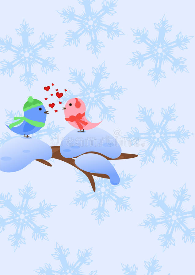 Winterliche Liebe vektor abbildung