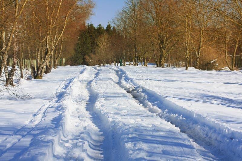 Winterliche Straße lizenzfreies stockfoto