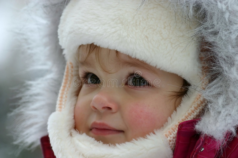 Wintermädchen lizenzfreies stockfoto