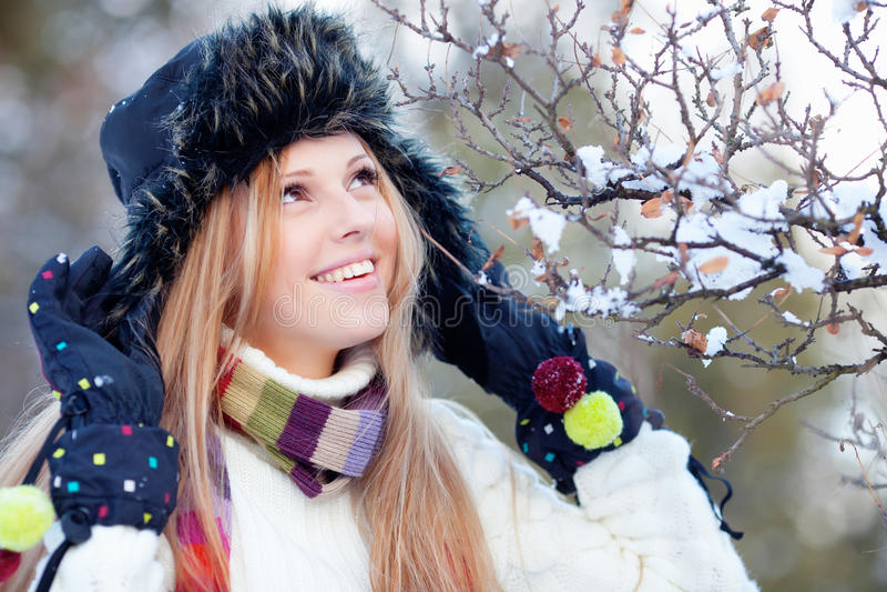Wintermädchen stockbilder