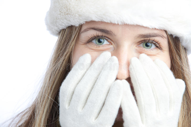 Wintermädchenportrait stockbilder