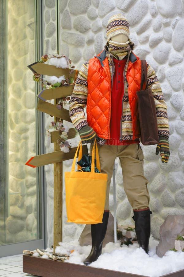 Wintermannequin lizenzfreies stockfoto