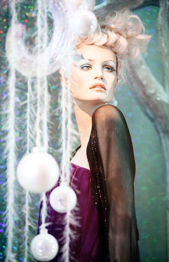 Wintermannequin stockbild