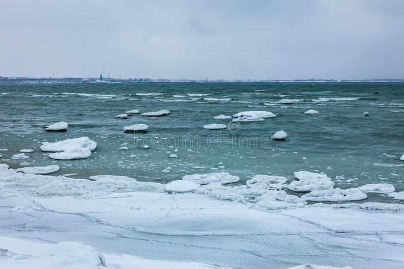 Wintermeer, Ostsee stockfotos