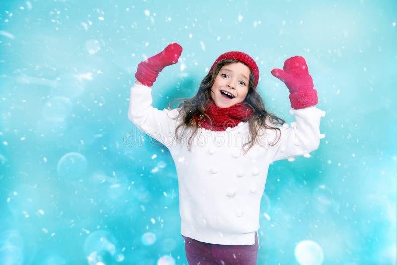 Wintermode für Kinder stockfoto