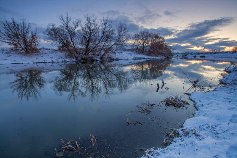 Wintermorgen stockbild