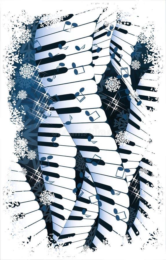 Wintermusik. lizenzfreie abbildung