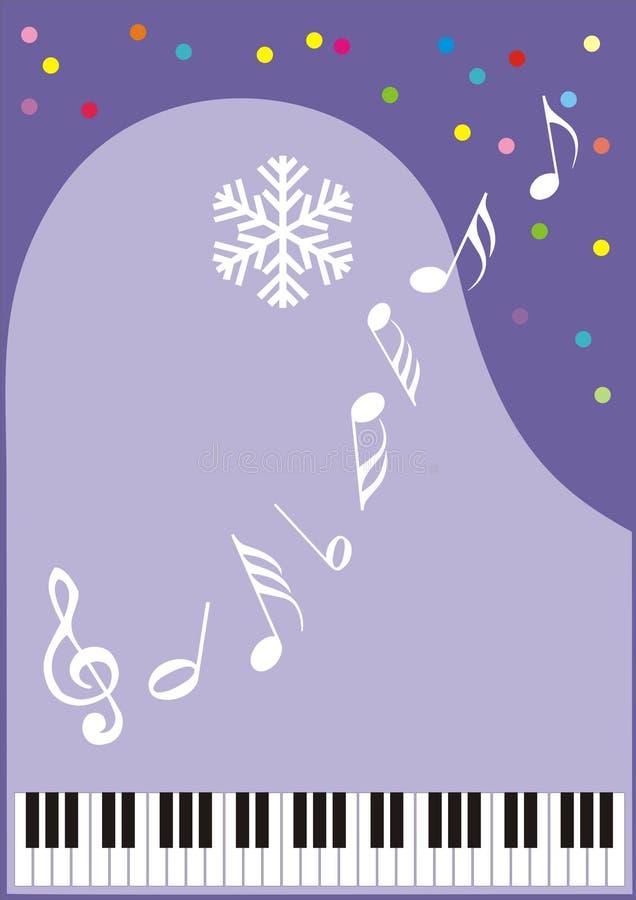 Wintermusik stock abbildung