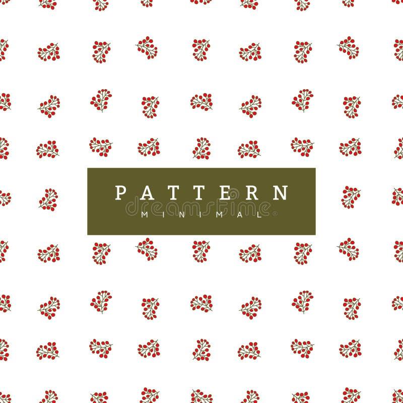 Wintermusterbeeren Weihnachtshintergrundsammlung Kann für Tapete, Musterfüllen, Oberflächenbeschaffenheiten, Gewebedruck verwende lizenzfreie abbildung
