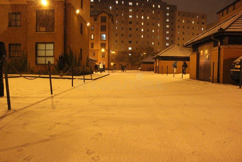 Winternacht stockbild