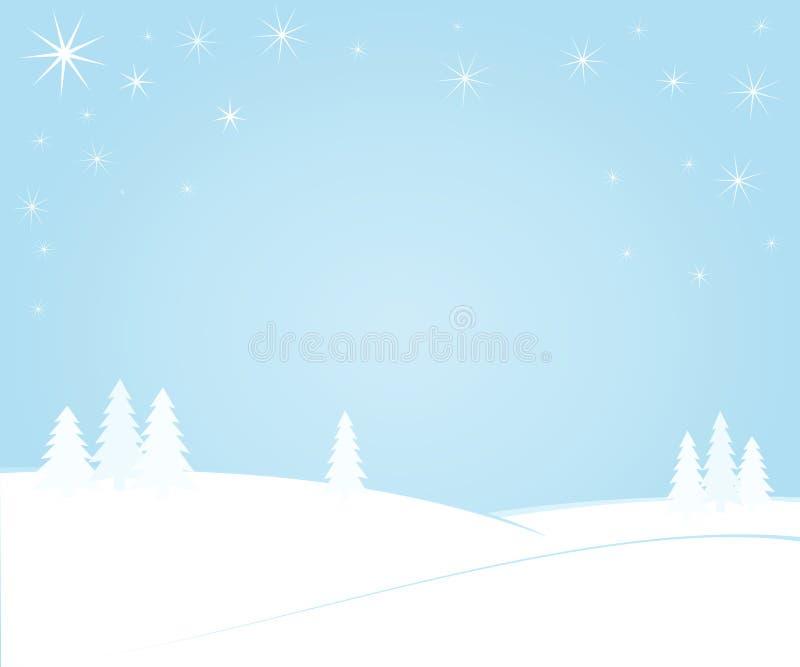 Winternacht lizenzfreie abbildung