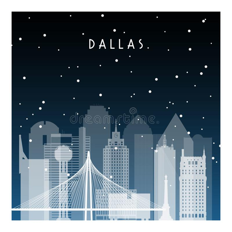 Winternacht in Dallas vektor abbildung