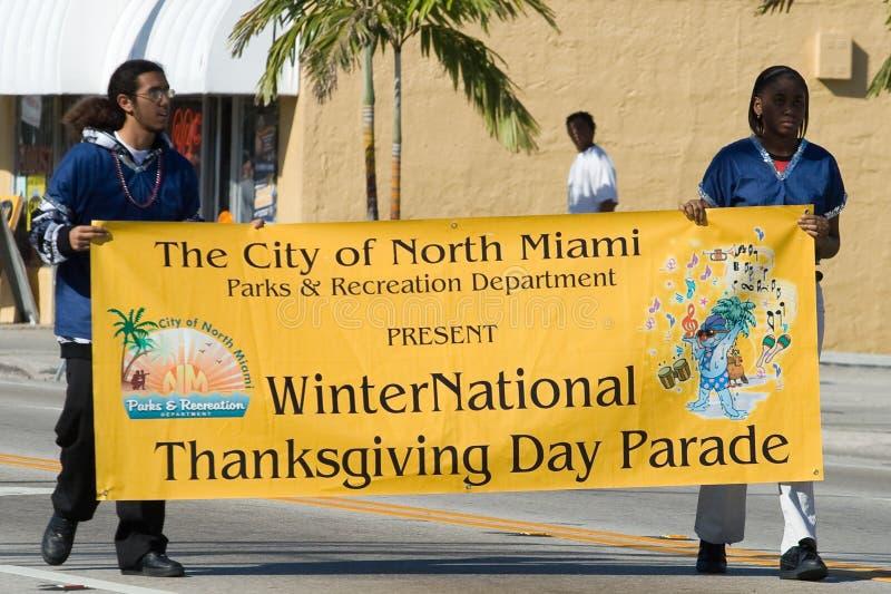 winternational roczny dzień parady dziękczynienia winternational obraz stock