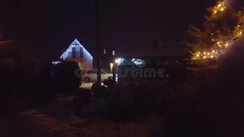 Winternight στοκ εικόνα