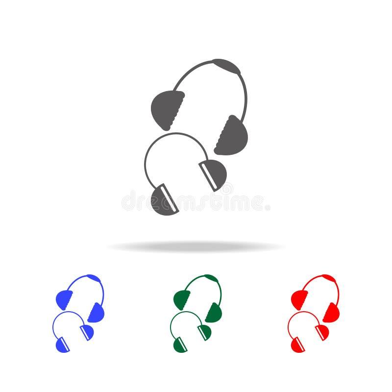 Winterohrenschützerikone Elemente von Weihnachtsfeiertagen in den multi farbigen Ikonen Erstklassige Qualitätsgrafikdesignikone E stock abbildung