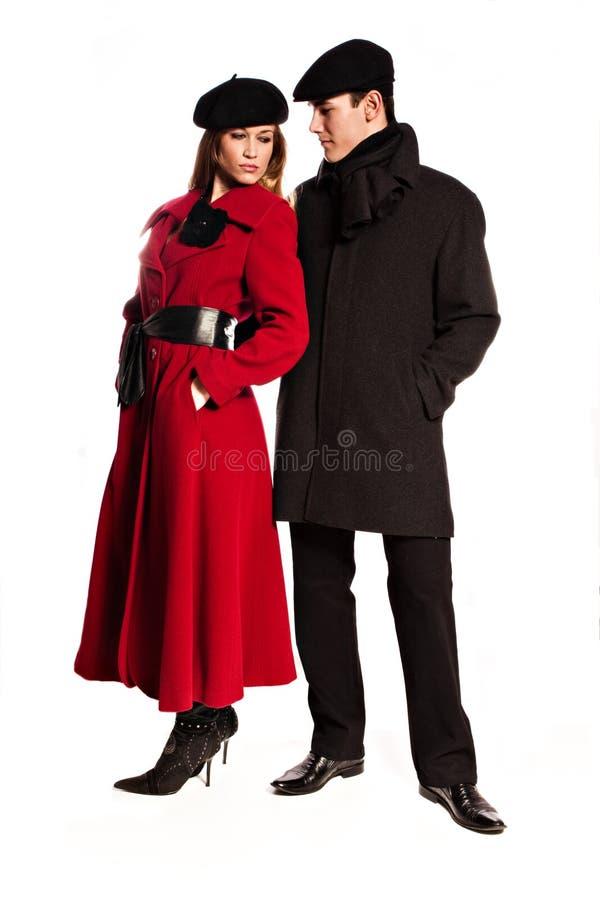 Winterpaare lizenzfreie stockfotografie