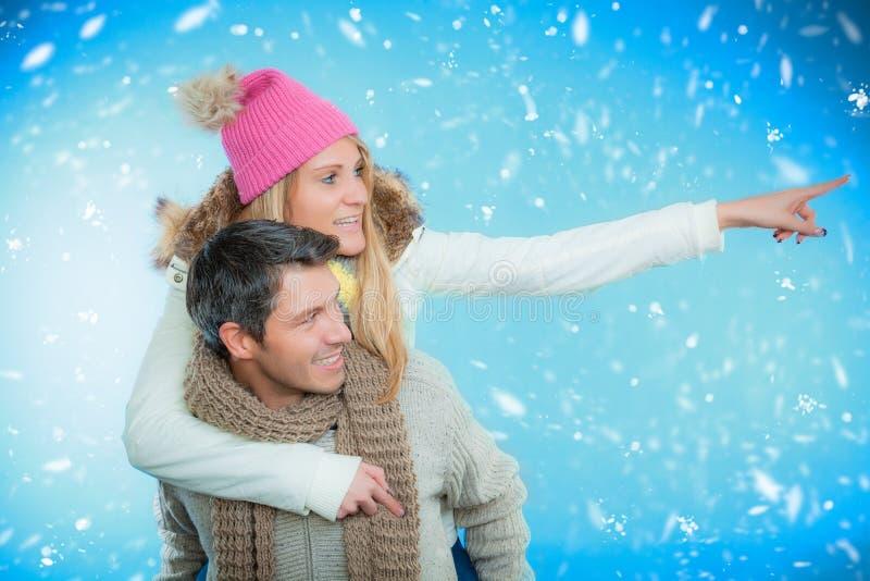 Winterpaare stockbilder