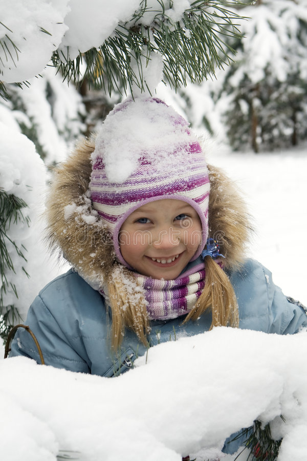 Winterportrait lizenzfreie stockfotografie