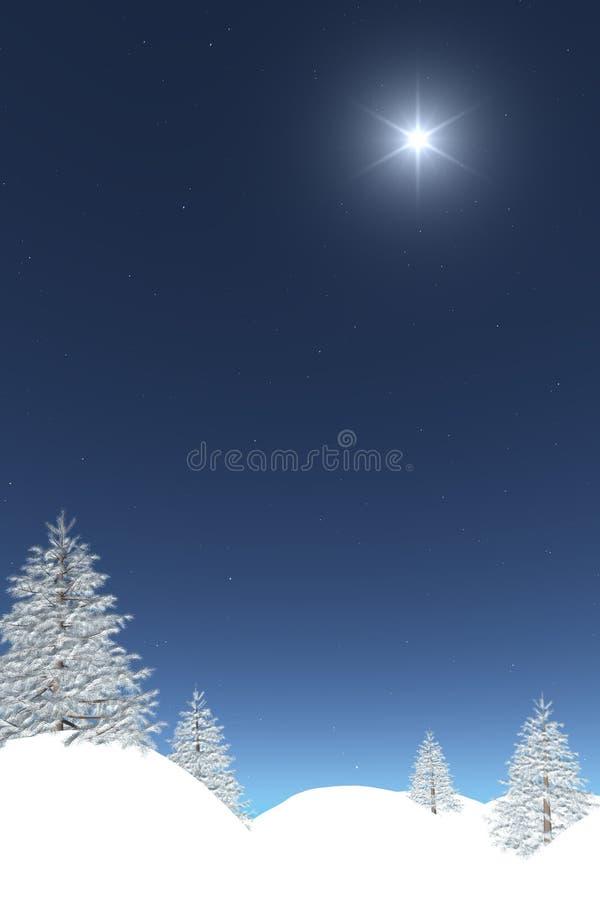 Winterpostkarte lizenzfreie abbildung