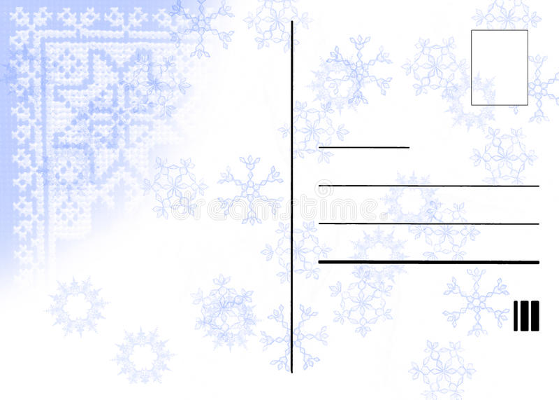 Winterpostkarte vektor abbildung