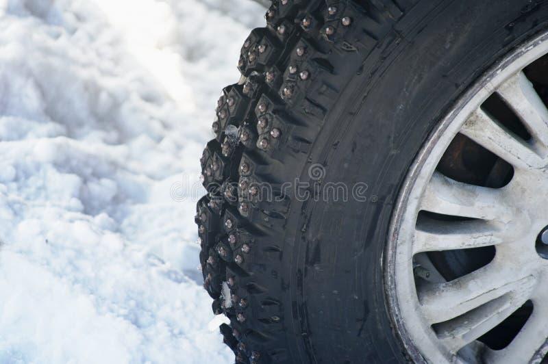 Winterreifenteil stockfotos