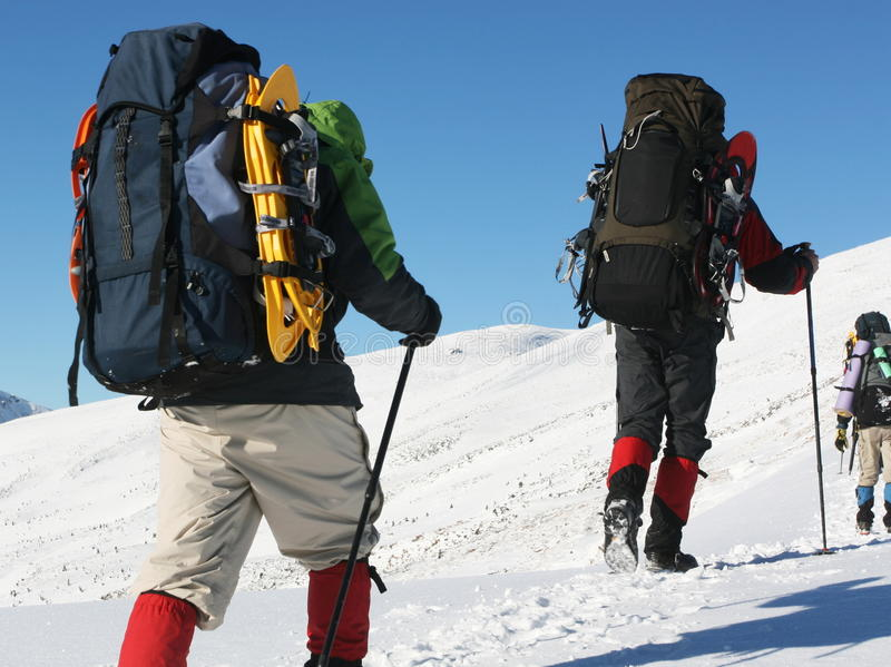 Winters Hike Stock Photography