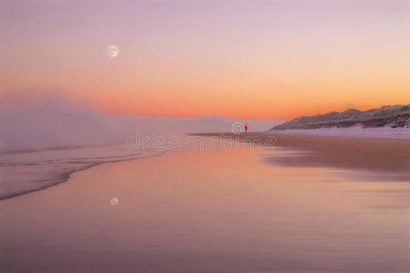 A winters morning on the coast royalty free stock photos