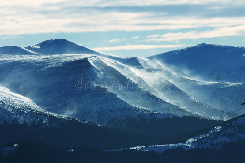 Winters mountains. Carpathian mountains in winter season royalty free stock photography