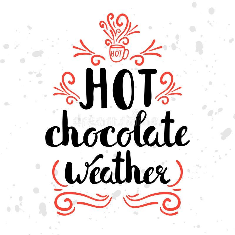 Wintersaisonmotivation zitiert Text Reizende Vergnügenskarte des kühlen Wetters mit Kalligraphie und Hand gezeichneten Illustrati stock abbildung