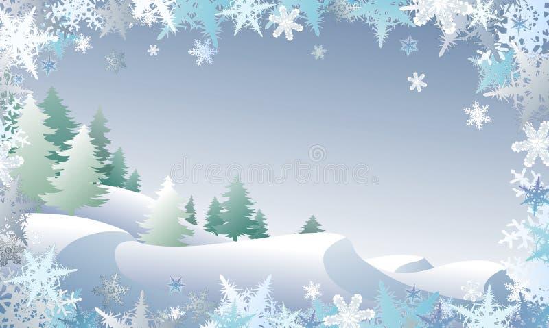 Winterscape illustration stock