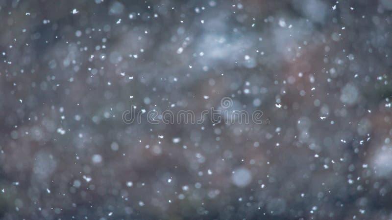 Winterscape met Natuurlijke sneeuwvalachtergrond voor de winterthema royalty-vrije stock foto's