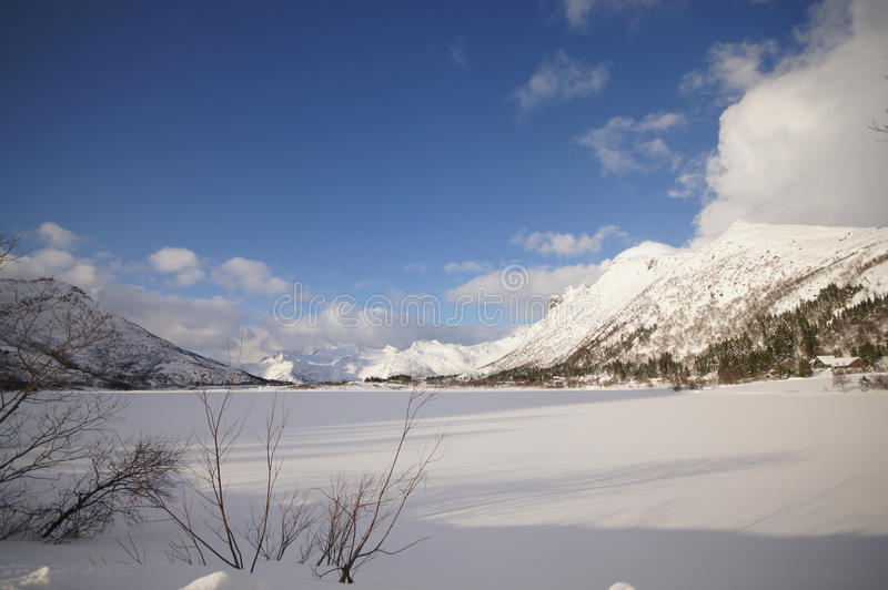 Winterscapes Norway stock images