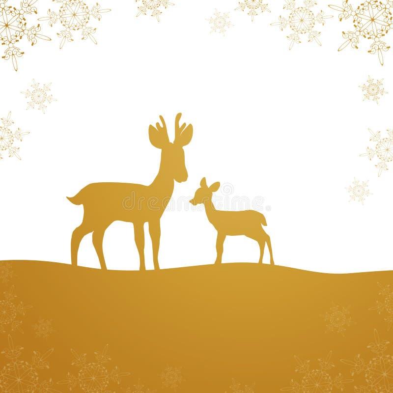 Winterscene - рождественская открытка стоковое изображение rf