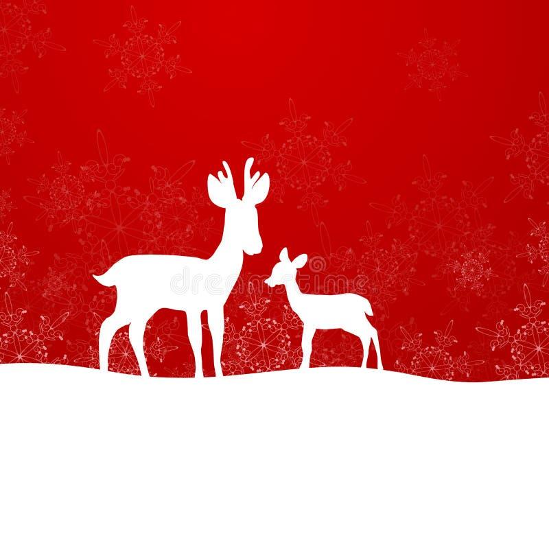 Winterscene - рождественская открытка стоковое изображение