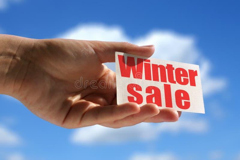 Winterschlussverkauf lizenzfreies stockfoto