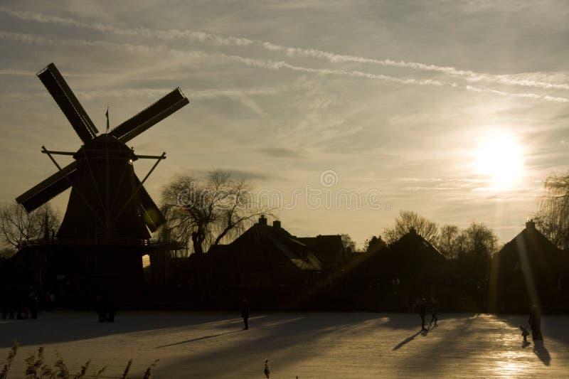 Winterslandschap, de Winterlandschap stock afbeelding