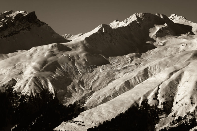 Wintersport alpino Vista fotografia de stock royalty free