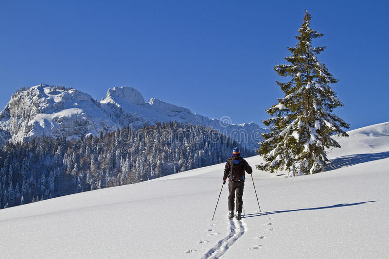 Wintersport in nature stock photos