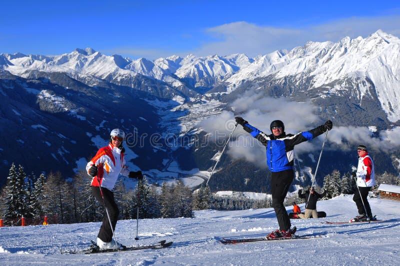 Wintersport: Skiregion Kals-Matrei, Leste-Tirol, Áustria imagem de stock royalty free