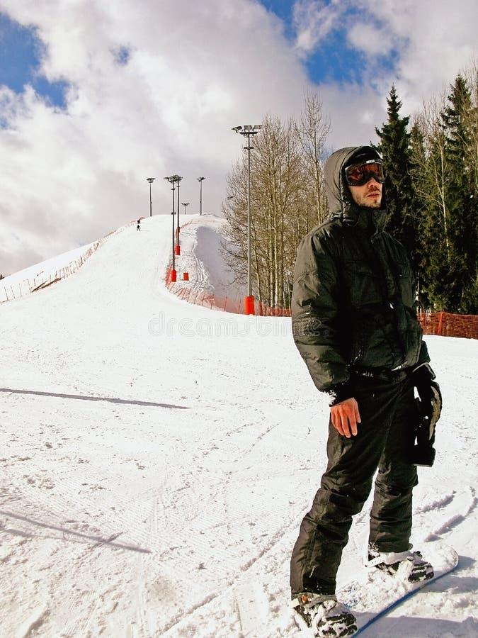 Wintersport-snowboarding images libres de droits