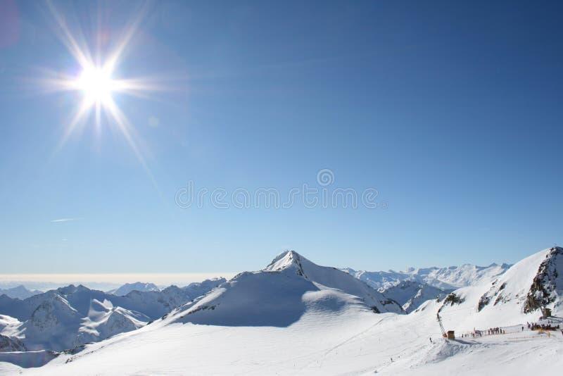Wintersporten royalty-vrije stock foto