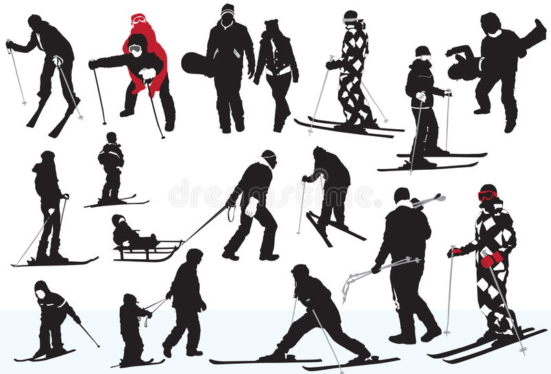 Wintersporten stock illustratie