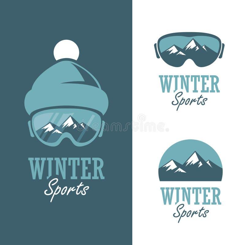 Wintersporten vector illustratie